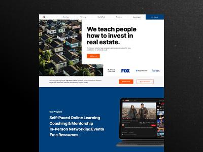 Real Estate Learning Landing Page Prototype web design website leanring school online course home houses online school property property design real estate realtor landing page design ux web ui