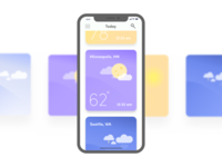 Weather App Cards