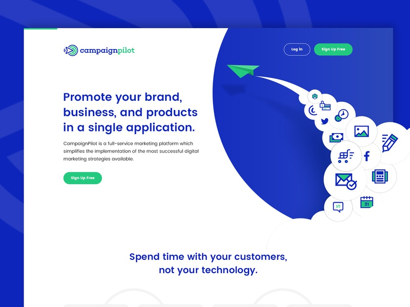 CampaignPilot Marketing Tool website design homepage website ui brand