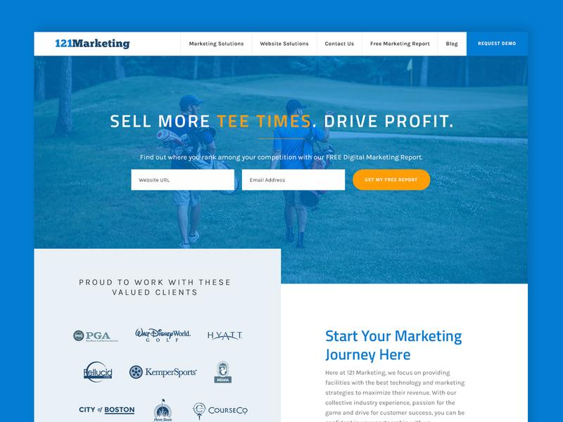 121 Marketing Website Design responsive homepage website design graphic design website ui
