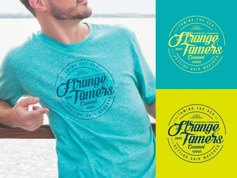 Shirt Graphic for Group Vacation shirtdesign type badge seal typography graphic design logo design