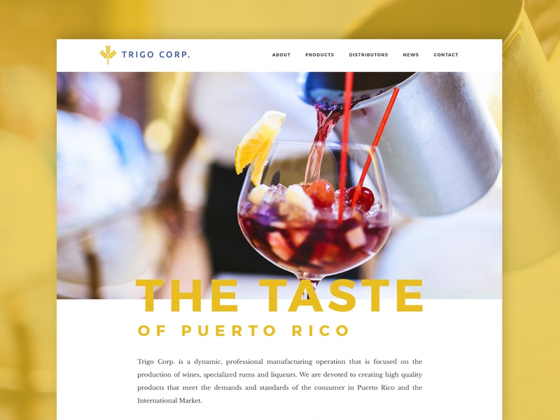 Website Design Trigo Corp. website design drinks liquor wine homepage logo design website graphic design brand