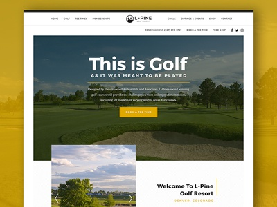 L-Pine Golf Homepage design responsive ui homepage course golf website