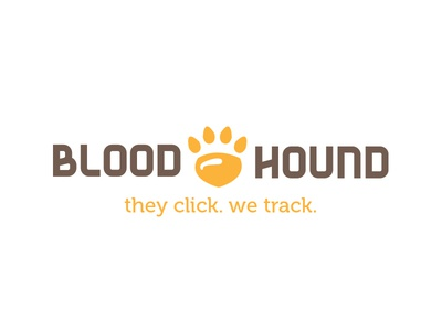 Bloodhound Logo tracking security tech graphic design brand logo design
