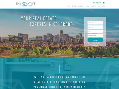 Innovative Homepage homes real estate design responsive ui homepage course website