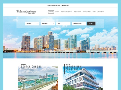 Grunbaum Homepage miami modern homes real estate design responsive ui homepage course website