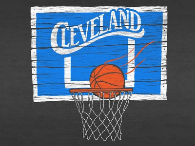 Cle Vintage Basketball lettering hand illustration vintage throwback cle basketball cleveland