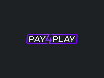 Pay4Play black game play pay mark icon logotype creative logo
