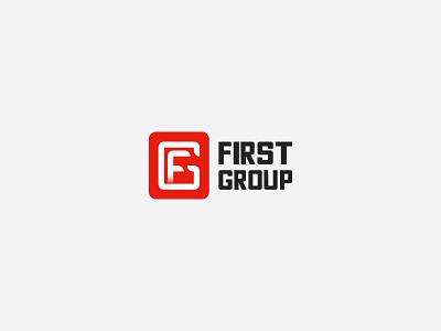 FirstGroup letter red monogram mark icon logotype creative logo