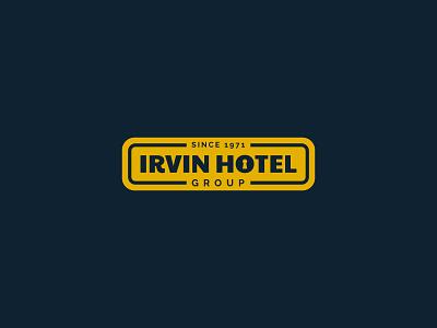 Irvin Hotel lock hotel font mark icon logotype logo