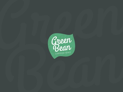 Green Bean coffee green leaf lettering font mark icon logotype creative logo