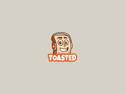 Toasted game play illustration channel youtube cartoon character creative logo