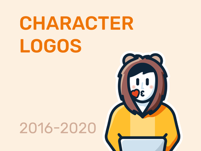 Character Logo Collections mascot logotype logos logofolio logo flat cute collection character branding