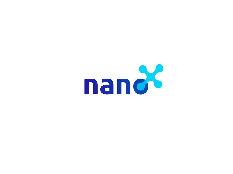 Nano X business typography lettering font company letter x technology nano design логотип logotype mark icon creative logo