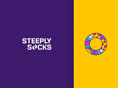 Steeply Socks shop online store company colorful socks steeply business branding логотип logotype icon creative logo