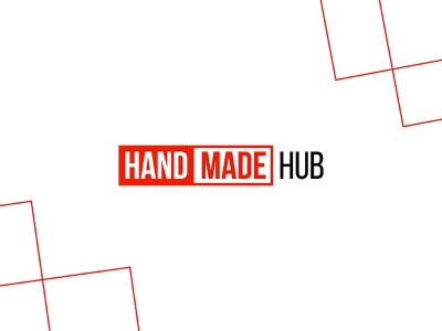 HANDMADE Hub red handmade branding font business company логотип mark logotype icon creative logo