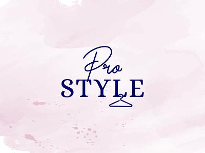 Pro Style brand clothing fashion hanger beauty style логотип logotype icon creative logo