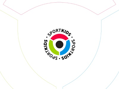 SportKids circle shield kids sport логотип mark logotype icon creative logo