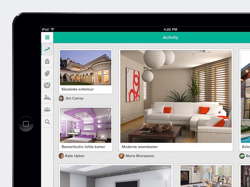 Obly interior design inspiration iPad app ipad interior inspiration app ios tablet