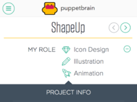 Puppetbrain mobile work detail