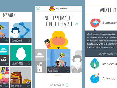 Puppetbrain mobile website puppetmaster gotham responsive tungsten mobile website portfolio mobile first puppetbrain zurb foundation sketch app