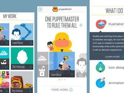 Puppetbrain mobile website