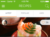 Foodapp recipesoverview realpixels