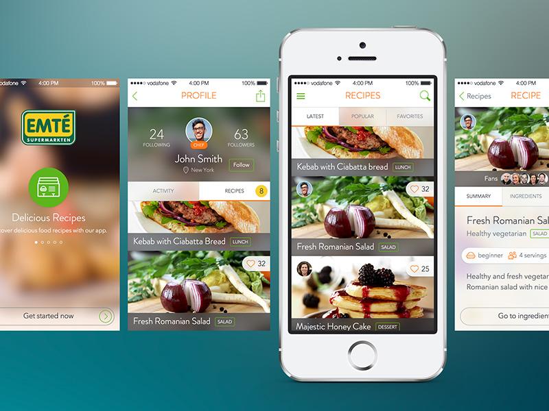 Supermarket app revamping app ui iphone recipes food supermarket