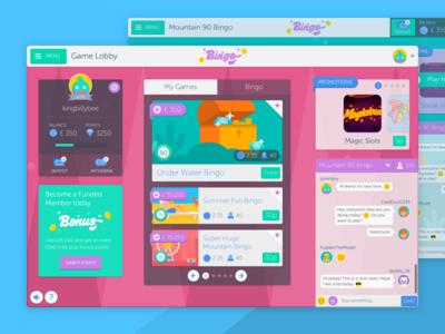 Bingo Games Platform - Game Lobby responsive html5 interactive illustration ui ux mobile web app game bingo