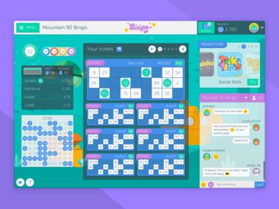 Bingo Game Room responsive interactive html5 illustration ui ux mobile web app game bingo