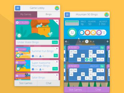 Bingo Mobile Screens responsive interactive html5 illustration ui ux mobile web app game bingo