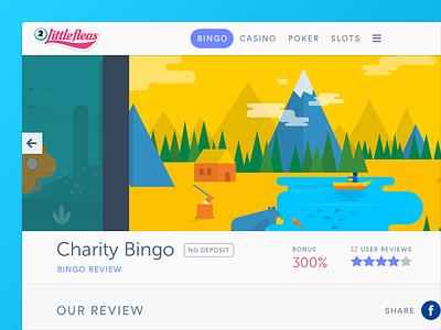 Bingo reviews website - Review detail ux ui web design website page detail review bingo