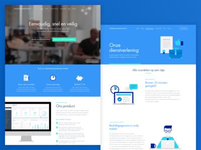 Arbeidsovereenkomsten.nl landing page landing page responsive ux ui contract web design website