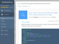 Dribbble Contentking Webapp Detail