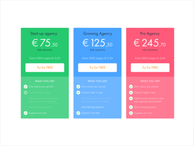 ContentKing pricing futura ux ui pricing table landing website content king
