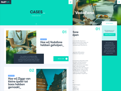PartOf website - cases page detail page ux ui cases website