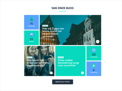 PartOf website - blog grid ux ui grid blog website