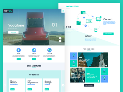 PartOf website - landing page jobs sales icons illustration ux ui website landing