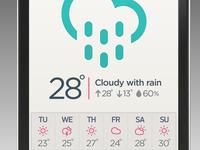Weather app rebound