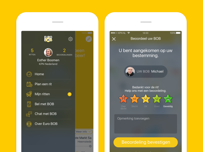 Euro BOB reviews reviews mobile netherlands ui ux android iphone app