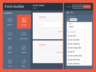 Woovtie form builder form builder form asset management ui ux dashboard desktop application web app