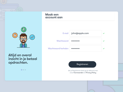 SchoolPay sign up illustration sign in register sign up school finance netherlands ui ux dashboard mobile application