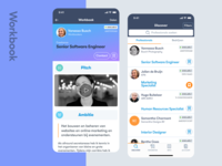 Workbookers - a mobile app for the new job market jobs startup linkedin ionic codebridge technical search professional profile workbook ui ux ios android iphone app mobile