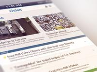 Vision news app