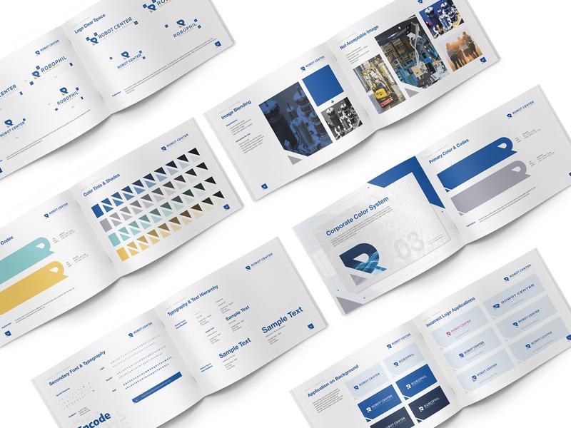 Brand Guideline design for Roboto Center typography technology logo consistency logo identitydesign brandguide brandguidelines