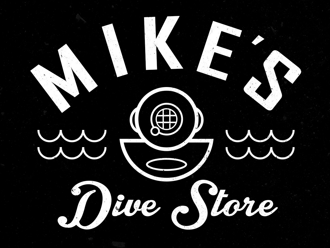 Mike's Logo branding store diving logo dive