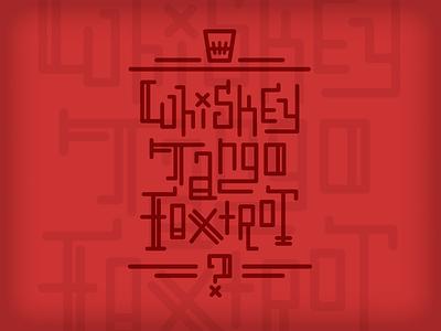 Whiskey Tango Foxtrot type typography t-shirt wtf