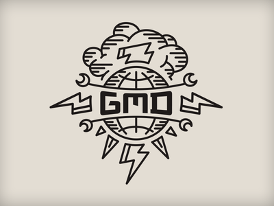GMD sketchbook cover rudahbee globe cloud letterpress brad ruder lightning bolt
