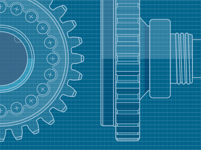 Detail - In progress technical illustration rudahbee gear shaft brad ruder technical drawing