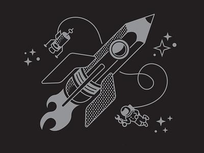 Rocket Pencil rudahbee stars astronaut drawing sketchbook exploration space brad ruder